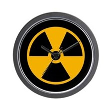 No to Radiation and Nuclear P Wall Clock
