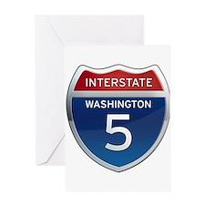Interstate 5 - Washington Greeting Card