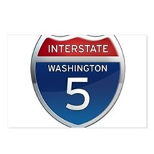 Interstate 5 - Washington Postcards (Package of 8)