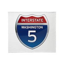 Interstate 5 - Washington Throw Blanket