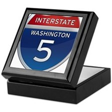 Interstate 5 - Washington Keepsake Box