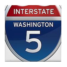 Interstate 5 - Washington Tile Coaster