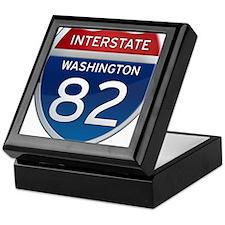 Interstate 82 - Washington Keepsake Box