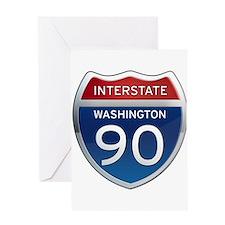 Interstate 90 - Washington Greeting Card