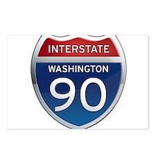 Interstate 90 - Washington Postcards (Package of 8