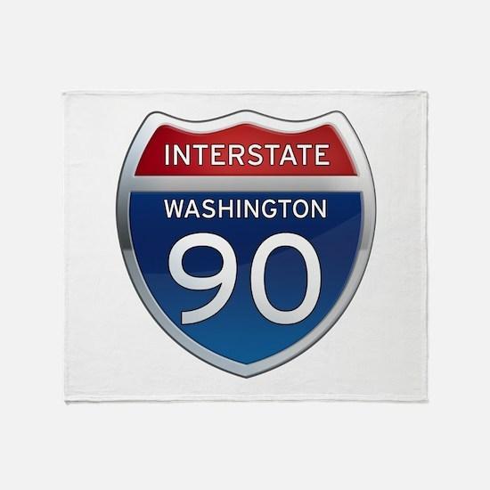 Interstate 90 - Washington Throw Blanket
