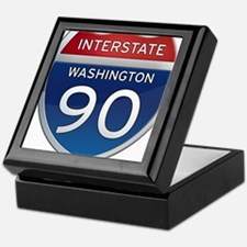 Interstate 90 - Washington Keepsake Box
