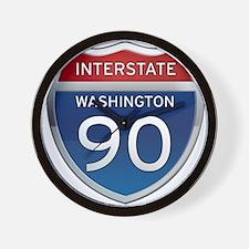Interstate 90 - Washington Wall Clock