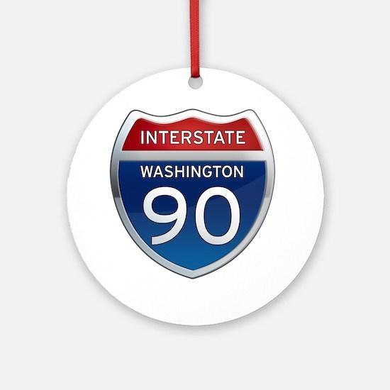 Interstate 90 - Washington Ornament (Round)