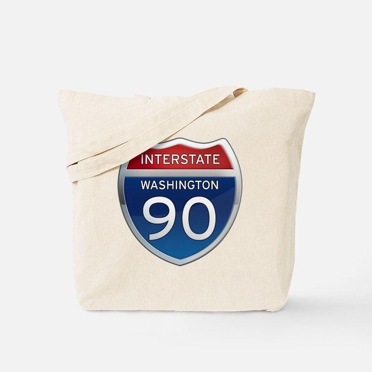 Interstate 90 - Washington Tote Bag