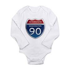 Interstate 90 - Washington Long Sleeve Infant Body