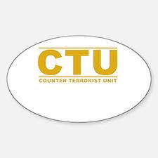 CTU Sticker (Oval)