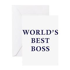 World's Best Boss Greeting Card
