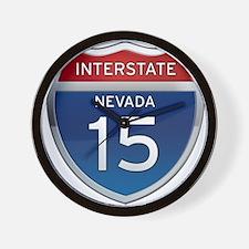 Interstate 15 - Nevada Wall Clock