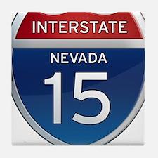 Interstate 15 - Nevada Tile Coaster