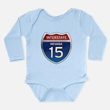 Interstate 15 - Nevada Long Sleeve Infant Bodysuit
