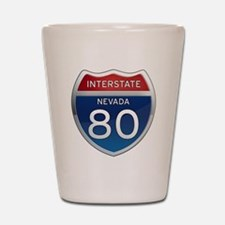 Interstate 80 - Nevada Shot Glass