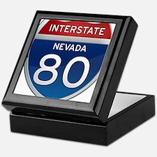 Interstate 80 - Nevada Keepsake Box