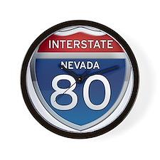 Interstate 80 - Nevada Wall Clock