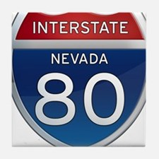 Interstate 80 - Nevada Tile Coaster