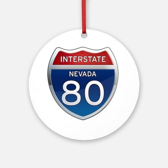 Interstate 80 - Nevada Ornament (Round)