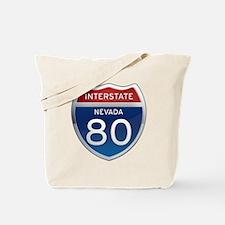 Interstate 80 - Nevada Tote Bag