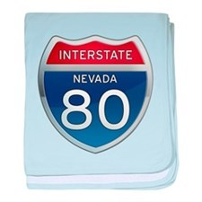 Interstate 80 - Nevada baby blanket