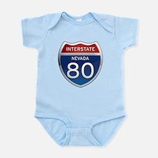 Interstate 80 - Nevada Infant Bodysuit