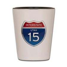Interstate 15 - Utah Shot Glass