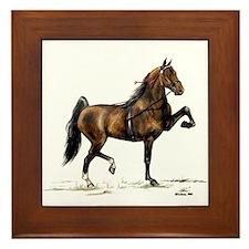 Hackney Pony Framed Tile