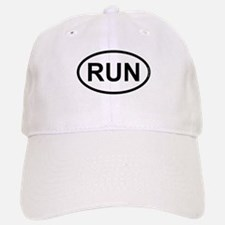 RUN - Running Runner Baseball Baseball Cap