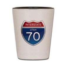 Interstate 70 - Utah Shot Glass