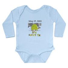 Personalized My First 5K Long Sleeve Infant Bodysu