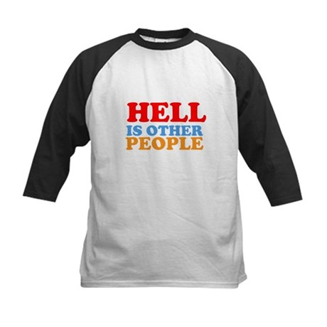 Hell Is Other People Kids Baseball Jersey