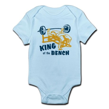 King of the Bench Press Infant Bodysuit