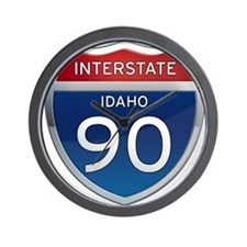 Interstate 90 - Idaho Wall Clock