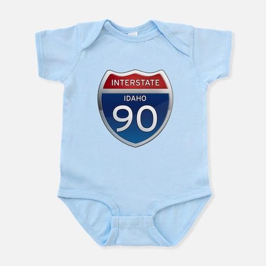 Interstate 90 - Idaho Infant Bodysuit