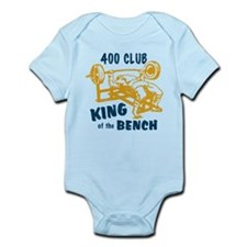 400 Club Bench Press Infant Bodysuit