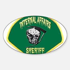 Sheriff Internal Affairs Sticker (Oval 50 pk)