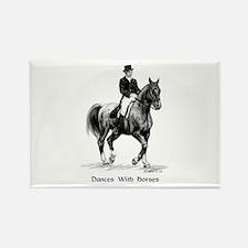 "Sport Horse ""Dressage"" Rectangle Magnet"