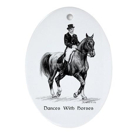 "Sport Horse ""Dressage"" Ornament (Oval)"