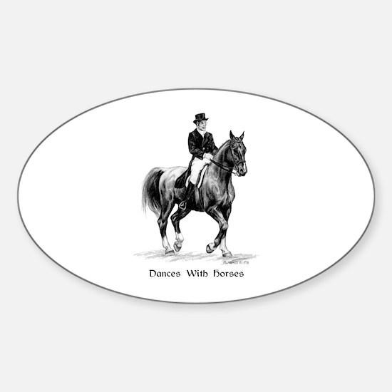 "Sport Horse ""Dressage"" Sticker (Oval)"
