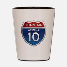 Interstate 10 - Arizona Shot Glass