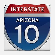 Interstate 10 - Arizona Tile Coaster