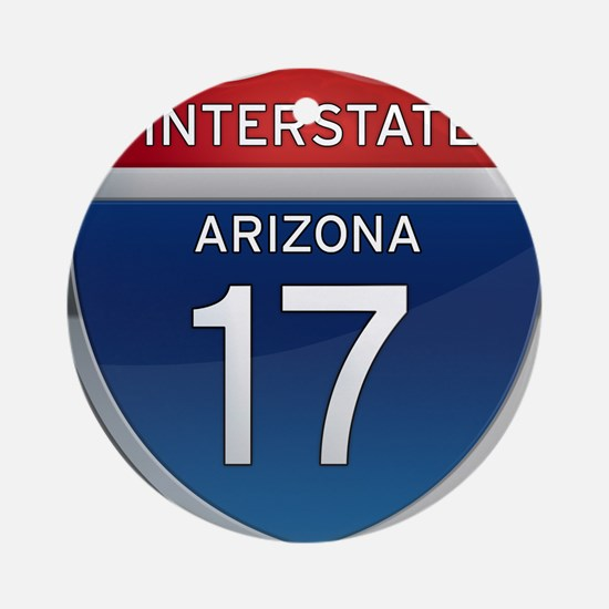 Interstate 17 - Arizona Ornament (Round)