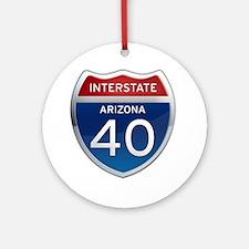 Interstate 40 - Arizona Ornament (Round)