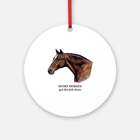 Sport Horse Ornament (Round)