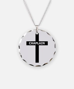 Chaplain/Cross/Inlay Necklace Circle Charm