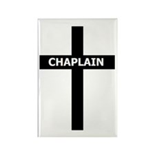 Chaplain/Cross/Inlay Rectangle Magnet