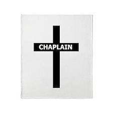 Chaplain/Cross/Inlay Throw Blanket